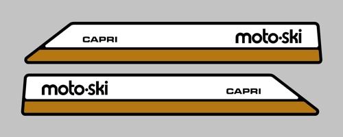 1973 MOTO-SKI ZEPHYR 340 DECAL KIT REPRODUCTION stickers  Capri also