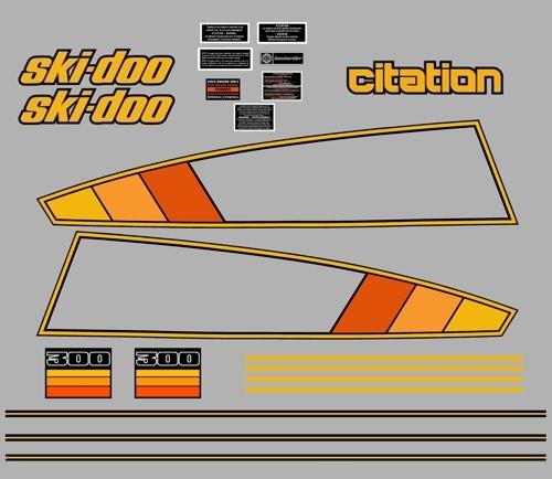 1979 Skidoo Citation 300 Decal Kit  DooDecalscom Your