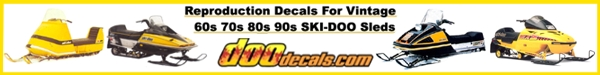 DooDecals.com - High Grade Top Quality OEM Style Decals for older Ski-Doo and Moto-Ski Sleds